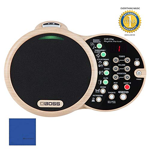Affordable BOSS DR-01S Rhythm Partner Organic Groove Machine and Speaker with Microfiber and 1 Year ...