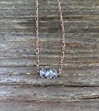 LOVEKUSH Beautiful AAA++ Quality Crystal choker/Small crystal necklace/Diamonds necklace/Gift for daughter/Gift for her/Genuine gemstone jewelry/Dainty choker 5-7mm