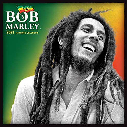 Bob Marley OFFICIAL 2021 12 x 12 Inch Monthly Square Wall Calendar, Music Jamaica Celebrity Reggae Ska Icon Singer Songwriter