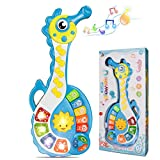BeebeeRun Baby Musical Toys, Electronic Kids Musical Instruments Keyboard Piano Drum Set Learning Light Up Toy for Toddlers, Infant Early Educational Development Music Toys for Babies