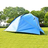 WANBAOAO Portátil Hamaca Tarp Impermeable Camping Toldo al Aire Libre Familia Tienda Invernadero para Playa de Yard (Color: Azul, Tamaño: 480x480x480x200cm) (Color : Blue, Size : 480x480x480x200cm)