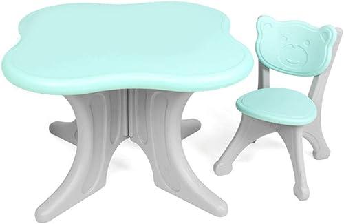 Kinder Tisch und Stuhl Set Haushalt Kunststoff Spielzeug Tisch Kindergarten Früherziehung Tisch und Stühle Interaktiver Spieltisch für Kinder Baby Schreiben Studie