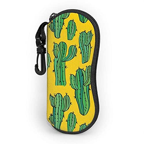 shopee-t Saguaro Green Cactus Plants Party Estuche blando para gafas de sol Ultra Light Portable Neoprene Estuche para anteojos