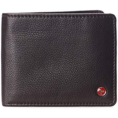 Alpine Swiss RFID Connor Passcase Bifold Wallet For Men Leather Comes in a Gift Box Soft Nappa Brown