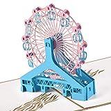 Tarjeta de Felicitación Emergente 3D,Tarjeta Regalo Cumpleaños Navidad Boda Tarjeta de Invitaciones con Sobre para Hombres Niños Felicitaciones (Rueda de la Fortuna) SPDYCESS