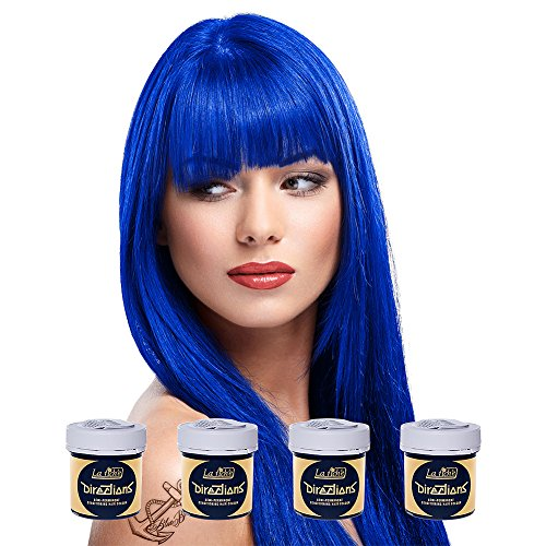La Riche Directions Haarfarbe 4x 88ml (Midnight Blue) + GRATIS BB Sugar Skull Täschchen