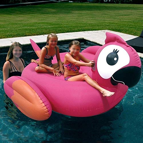 SMEJS 210CM Gigante Loro Piscina flotadores Nuevo Anillo de la natación por Adulto Niños Inflable Loro Ride-On Agua Juguetes Aire Tumbona colchón