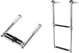 2 Step Telescopic Ladder Marine Drop Stainless Steel Boat Ladder Swim Step Mirro Polishing …