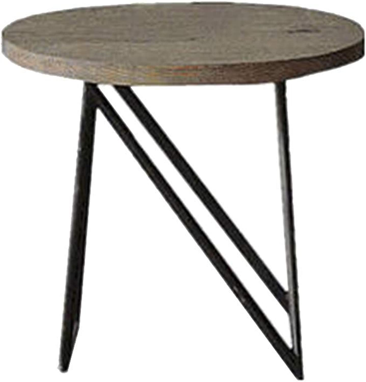 Xiaomei Industrial Wind Retro Coffee Table Wrought Iron Bedside Sofa Side Table Phone Table-50  40cm