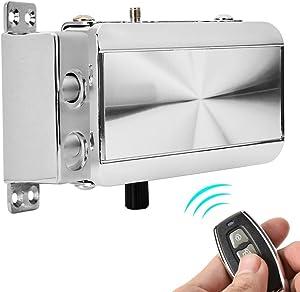 Remote Control Door Lock Kit Smart Anti-Theft Home Security Keyless Deadbolt Access Control System, Intelligent Home Remote Control Lock Mechanical Lock with Four Remot