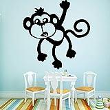 LYPWR88 Monkey Wandaufkleber Home Decoration Zubehör Wanddekoration Wohnzimmer Raumdekoration...