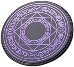 AkoMatial 10W Standard Charging Station Glowing Magic Array Wireless Charger Stand Charging Pad for Mobile Phone Purple