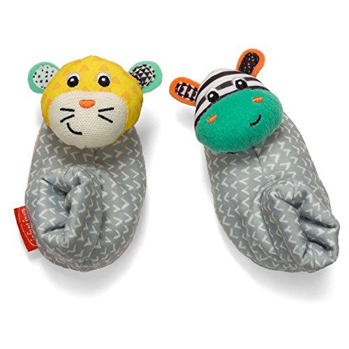 Infantino Foot Rattles Zebra and Tiger Zebra/Tiger