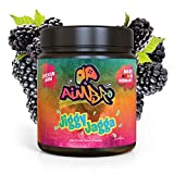 AimBro JiggyJagga - Gaming Game Energy Booster Pulver, Energy Drink Alternative/Ersatz, Gaming Supplement, Koffein Booster – 350g Pulver Dose (Geschmack: Blaue Himbeere)