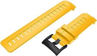 ZKxl8ca Silicone Watchband Wrist Strap for Suunto Ambit3 Vertical Traverse Alpha Spartan Yellow