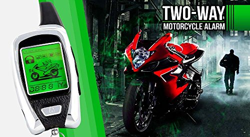 2-Way LCD Motorcycle Alarm Pager with Remote Engine Start and Proximity Sensor for All Bikes Universal