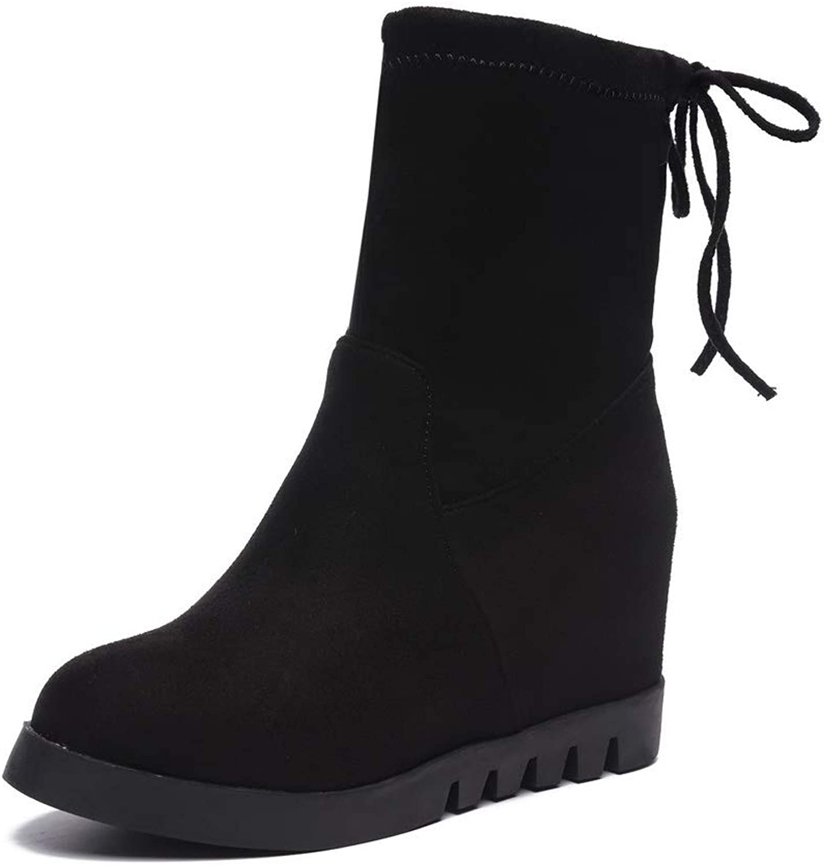 AdeeSu Womens Solid Bucket-Style Travel Urethane Boots SXC02923