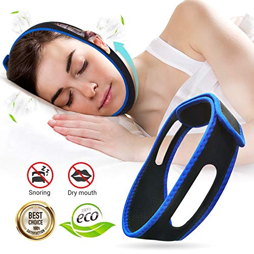 Chin Strap for CPAP Users Anti Snoring Chin Strap for Men and Women, Effective Snore Solution Device...