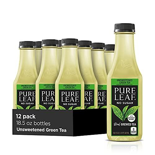 Pure Leaf Iced Tea, Unsweetened Green Tea, 18.5 Oz Bottles (12 Pack)