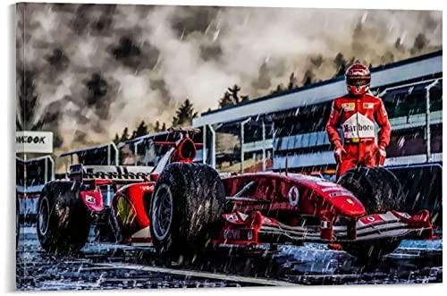 Puzzle 500 Piezas Rompecabezas para Adultos Niños Piloto de carreras Michael Schumacher Campeón del mundo de F1 e imagen 500 Piece 20.4x15inch(52x38cm) Sin Marco