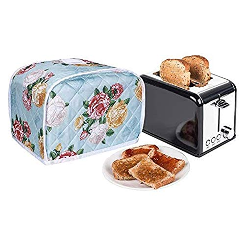 2 Slice Toaster Cover,Bread Maker Covers,Cotton Quilted Dust-proof Toaster Cover For Standard 2 Slice Toaster Machine,Bakeware Protector,Kitchen Machine Dry Protector Cover