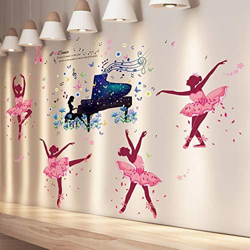 PISKLIU muursticker voor ballerina's voor ballerina's meisjes vinyl om te knutselen