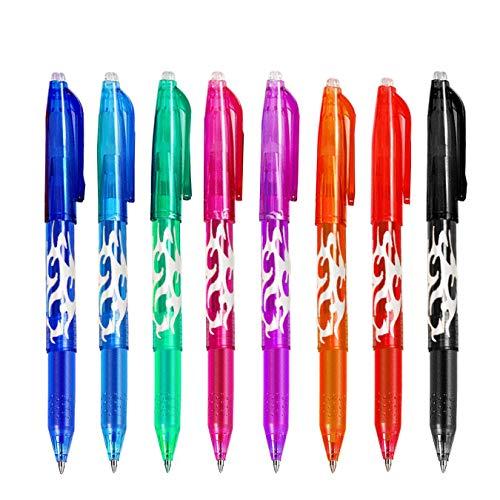 Bolígrafo Borrable, GXR 0.5 mm Bolígrafos de Tinta de Gel Borrables para Usos Diarios de La escuela/Hogar/Oficina(8 Colores) …