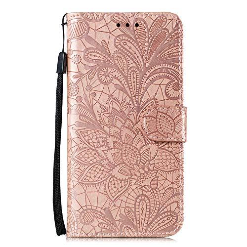 Hülle für Nokia 5.3 Lederhülle Flip Tasche Klappbar Handyhülle mit [Kartenfächer] [Ständer Funktion], Cover Schutzhülle für Nokia 5.3 - JEEB021274 Rosa Gold