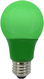 LED A19 Colored Light Bulb, 5W, (40W Equivalent), E26 Medium Base, 120V, UL Listed, Green (1 Pack)