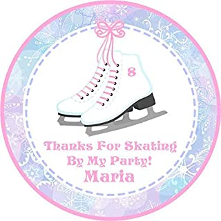 Ice skate bracelets party favors in organza bags Girls ice skating birthday supplies