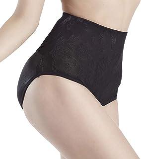 729b545e4e819 certainPL Women Body Shaper Butt Lifter High Waist Tummy Control Seamless  Padded Panties (Black