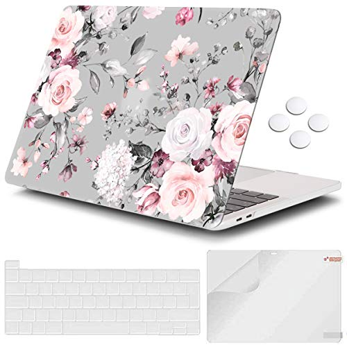 iCasso MacBook Air 13 inch Case 2020 2019 2018 Release A2179/A1932 with Touch ID Retina Display, Plastic Hard Shell Case and Keyboard Cover Compatible Newest MacBook Air 13'' - Rose
