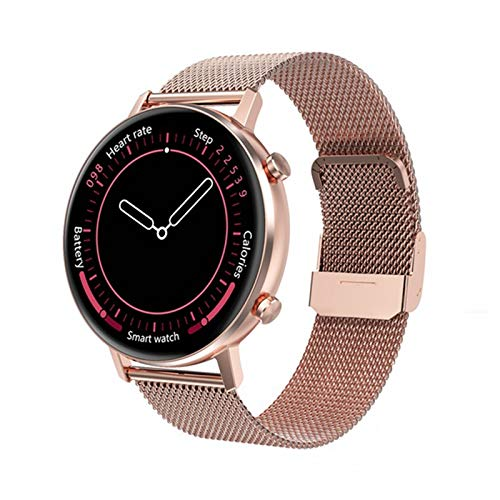 YZK Smart Watch Ladies Pantalla táctil Completa 360 * 360 RESOLUCIÓN DE LA RÁPIDAD DE LA RÁPIDAD DE LA PRESIÓN ANULA DE LA PRESIÓN sobre (para Android iOS) SmartWatch,B