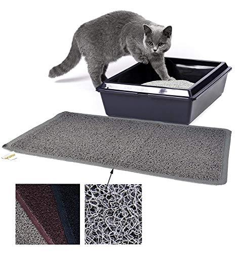 matrasa Vorleger aus PVC für Katzentoiletten - Katzenmatte Katzenklo Fußmatte für Katzen 40 x 60 cm Grau