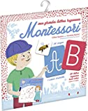 Mes grandes lettres Montessori – Pochette avec 26 lettres rugueuses et 1 cahier d'activités – À partir de 3 ans