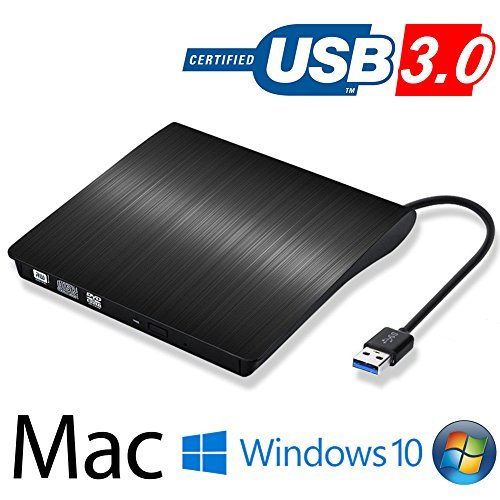 DVD ドライブ外付け USB 3.0 DVD プレイヤー ポータブルドライブ CD/DVD読取・書込 DVD±RW