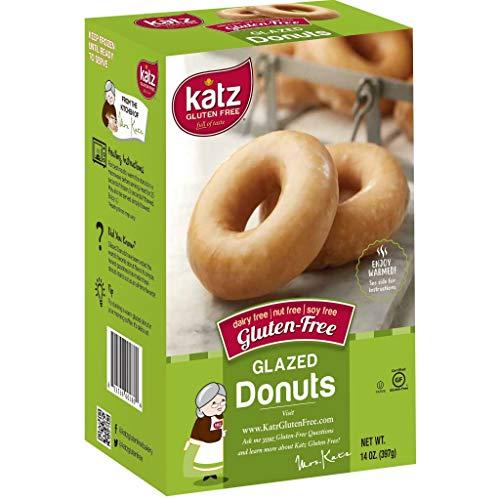 Katz Gluten Free Glazed Donuts | Dairy Free, Nut Free, Soy Free, Gluten Free | Kosher (1 Pack of 6 Donuts, 14 Ounce)