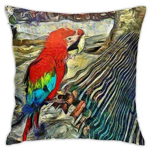 shenguang Tropical Bird in Rhodes Greece Square Kpa Tirar Almohadas, Fundas de Almohada, Floor Fundas de Almohada, Sofás, Cushion Covers, Cojín de Coche Backrest Covers