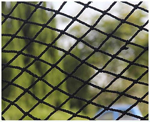 Kinder Sicherheitsnetz Universal Schutznetz Nylon Schwarzes Seilnetz, Sicherheitsnetz Balkon Treppenschutznetz, Outdoor Kinder Kletternetz Sicherheitsnetz, hängendes Kleidernetz, Anhängernetz 2m3m4m