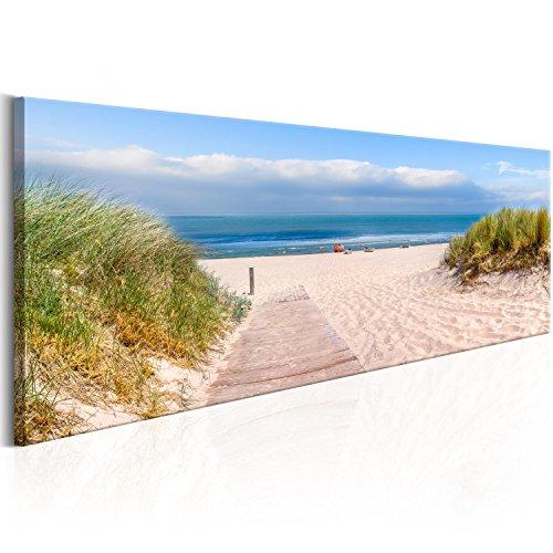 murando Acrylglasbild Strand und Meer 135x45 cm 1 Teile Wandbild auf Acryl Glas Bilder Kunstdruck Moderne Wanddekoration - Landschaft Natur Himmel f-C-0129-k-a