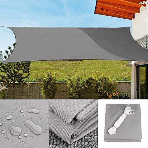 YFFS Sombra De Vela Solar Impermeable UPF40 + Protección UV Al Aire Libre Verano Fiesta Fresca Playa Ocio Toldo Toldo para Jardín con 4 Cuerdas De Amarre (4x4m)