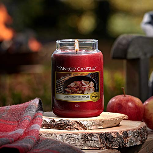 Yankee Candle candela profumata in giara media | Mele Croccanti sul Fuoco | durata: fino a 75 ore