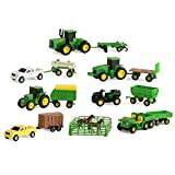 TOMY John Deere Toy Truck & Toy Tractor With Trailers 26-Piece Farm Toy Value Set