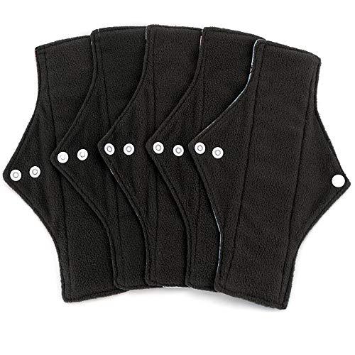 5 piezas Puls largo reutilizables toallas sanitarias Heavy Flow Cloth Pads para mujeres