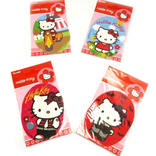 Hello Kitty [L2065] - Set de 4 patchs thermocollants 'Hello Kitty'
