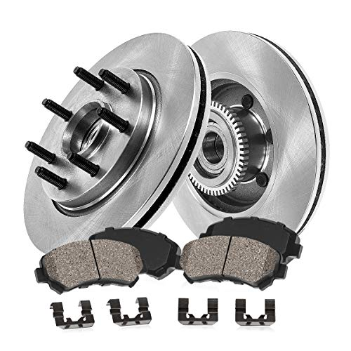 [ RWD ] FRONT 308 mm Premium OE 7 Lug [2] Brake Disc Rotors + [4] Ceramic Brake...
