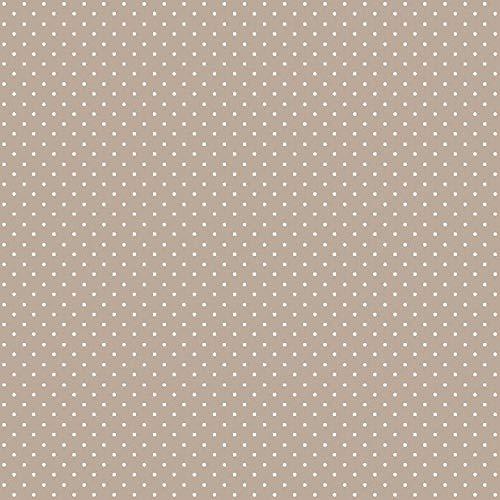 babrause® Baumwollstoff Pünktchen Sand Webware Meterware Popeline OEKOTEX 150cm breit - Ab 0,5 Meter