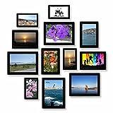 Juego de 12 marcos de fotos magnéticos para frigorífico de 9 x 13 cm, 10 x 15 cm, 13 x 18 cm, para fotos y postales, citas bonitas, idea de regalo para la cocina, el hogar y la boda