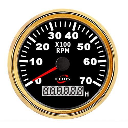 CKQ-KQ 85mm Motorcycle Toerenteller RPM Meter 7000rpm Gauge Met Huidige RPM/Total Hour for auto vrachtwagen boot