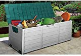 Ram® 150L Outdoor Garden Lawn Plastic Garden Bench Storage Shed Chest Cushion Box Storage FOR DIY TOOLS